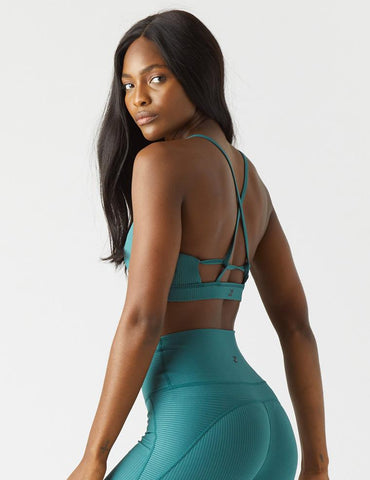 Tri-Back Bra: Evergreen