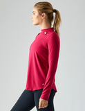 Tease Long Sleeve: Vivid Rose