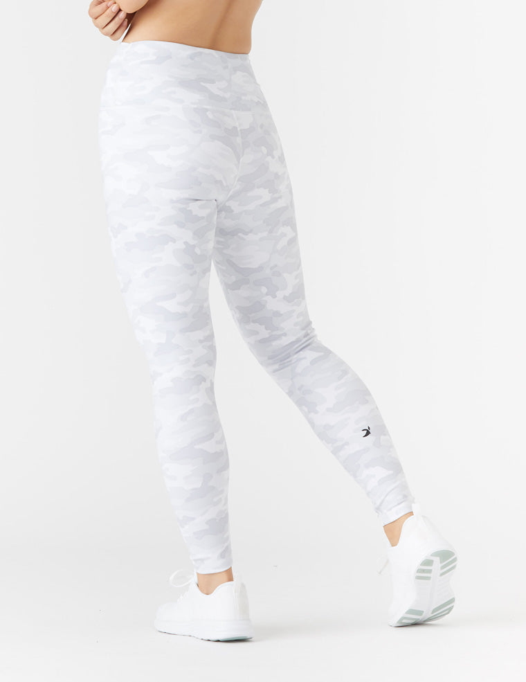 High Power Legging Print: White Camo - Online Only