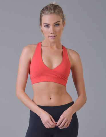 Wrap Bra: Blood Orange