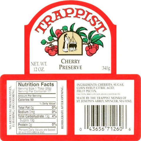 Trappist Cherry Preserves Nutrition Facts