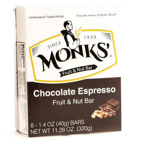 Monks' Chocolate Espresso Fruit and Nut Bars