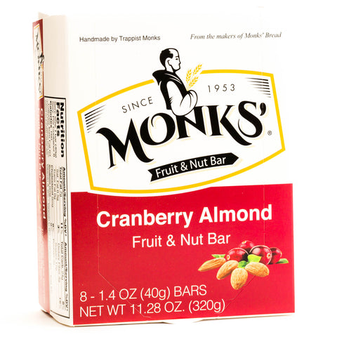 Monks' Cranberry Almond Fruit and Nut Bars