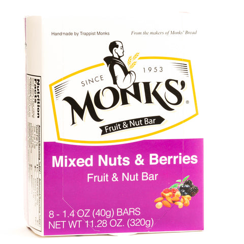 Monks' Mixed Nuts and Berries Fruit and Nut Bars