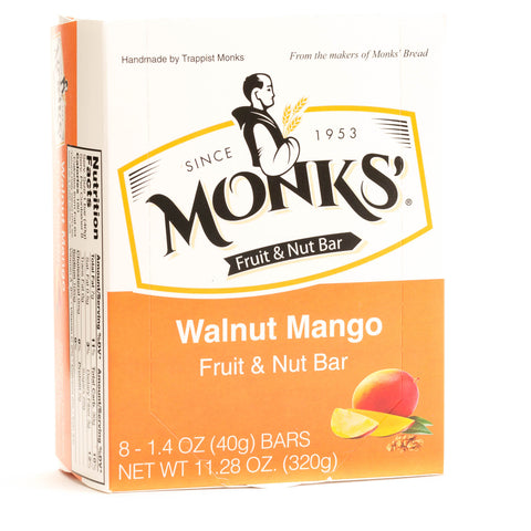 Monks' Walnut Mango Fruit and Nut Bars