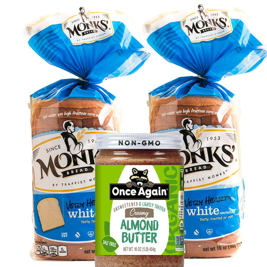 2 Bread 1 Nut Butter (Creamy Almond or Creamy Cashew) Bundle | Shipping Included