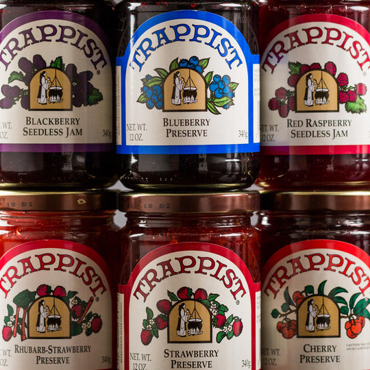 Trappist Jam & Preserves 6 Pack Shipping Included
