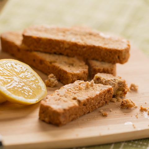 Monks' Lemon Ginger with Walnuts Biscotti