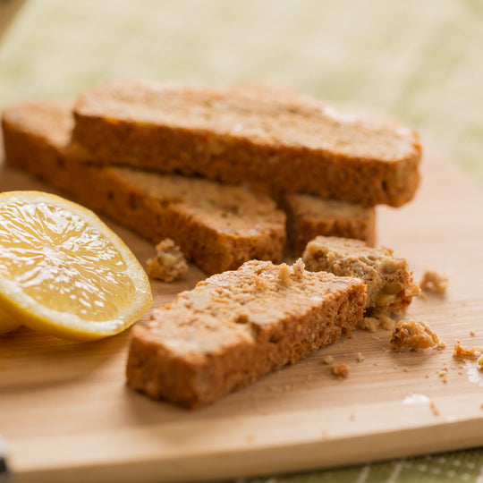 Monks' Lemon Ginger (With Walnuts) Biscotti (Case of 16 Boxes)