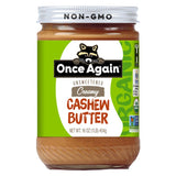 Case of Once Again Creamy Cashew Butter (12 Units)