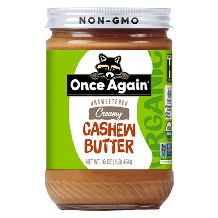 Once Again Creamy Cashew Butter (Case of 12)
