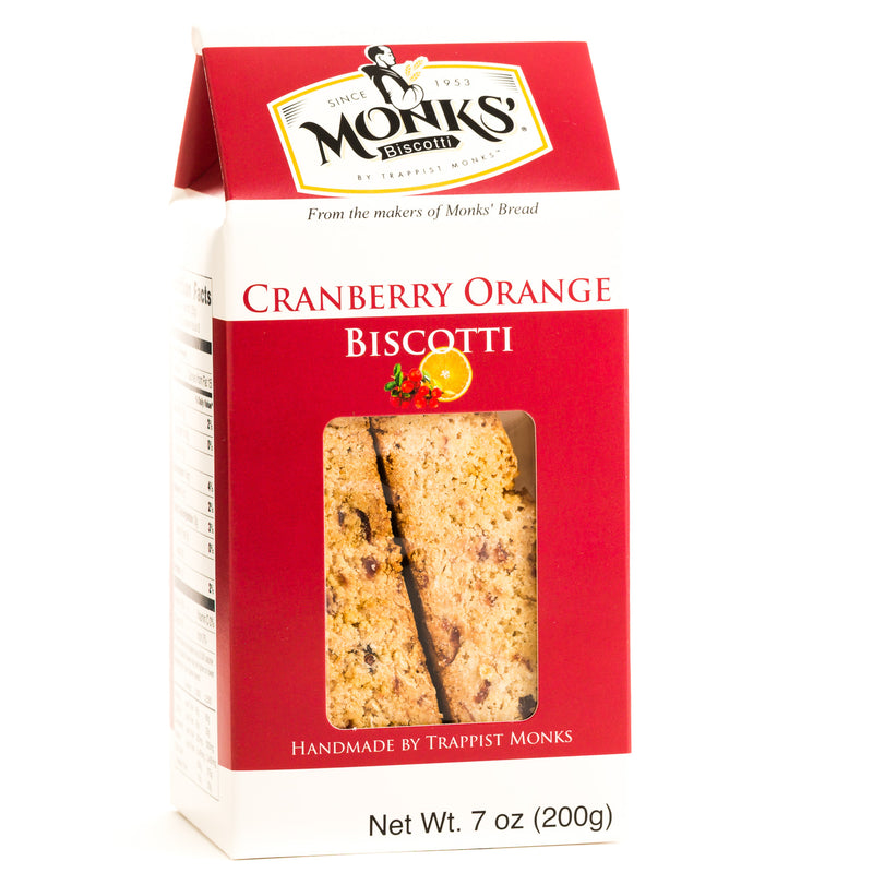 Monks' Cranberry Orange Biscotti (Case of 16)