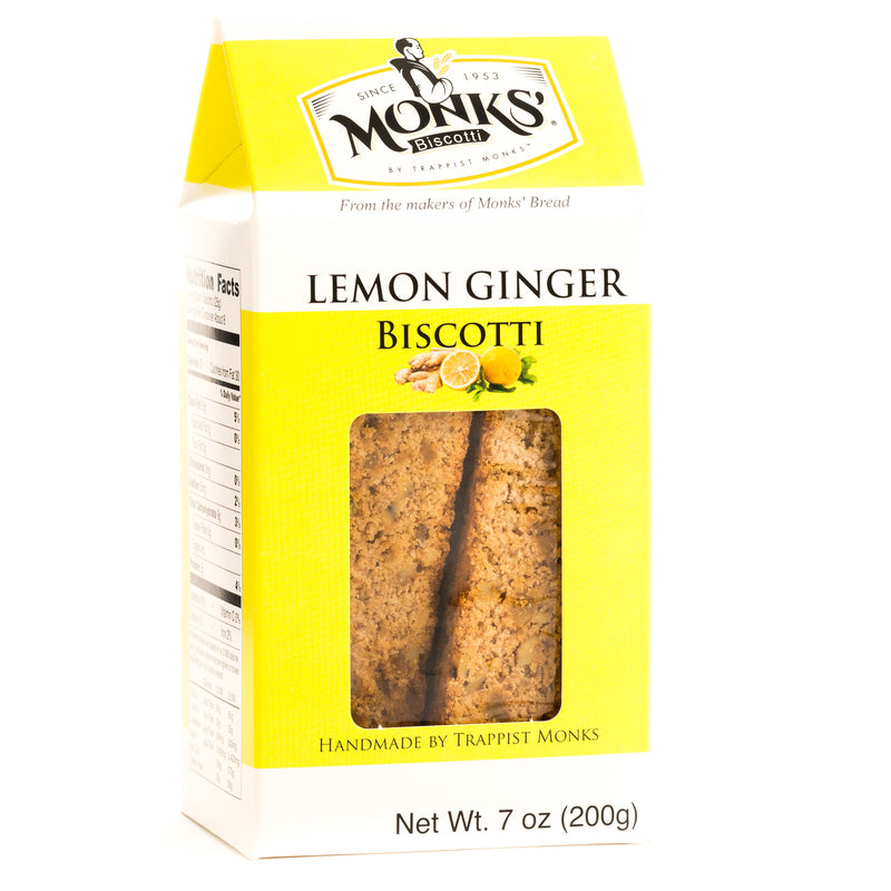 Monks' Lemon Ginger with Walnuts Biscotti (Case of 16)