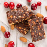Monks' Cranberry Almond Fruit & Nut Bars (Case of 15 Boxes - 120 Bars / Case)