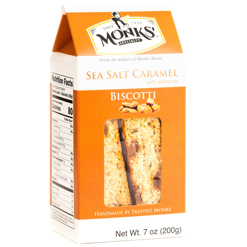 Monks' Sea Salt Caramel Biscotti (Case of 16)