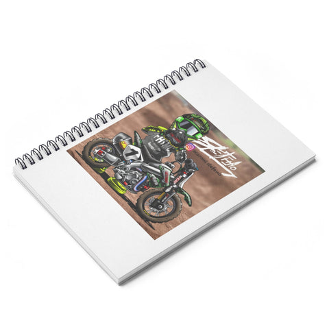 Factory Spiral Notebook - Ruled Line - The Best Minimoto, Pitbike, Minibike Source - Factory Minibikes