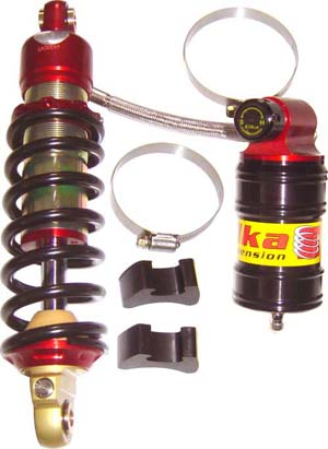 Elka Stage 3 Mini Series Remote Reservoir Shock KLX110/L - The Best Minimoto, Pitbike, Minibike Source - Factory Minibikes