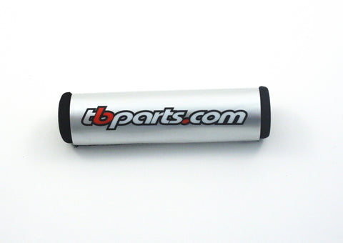 TB Parts Handlebar Pad Silver w/ TB Logo - TBW1128 - The Best Minimoto, Pitbike, Minibike Source - Factory Minibikes