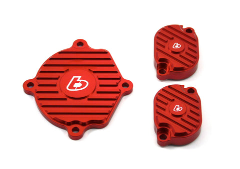 TB Parts Black Red Head Cover Set - Zongchen Heads - ZS155 YX160 - TBW1229 - The Best Minimoto, Pitbike, Minibike Source - Factory Minibikes