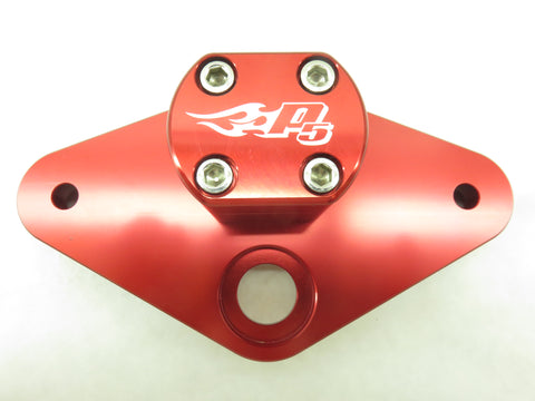 Top Clamp for 68-99 Z50 - TB Parts - Red/Black/Silver - The Best Minimoto, Pitbike, Minibike Source - Factory Minibikes