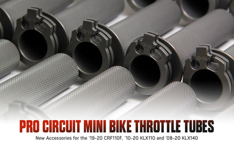 Billet Throttle Tube - 2010 and up KLX110's - 2008 and up KLX140's - The Best Minimoto, Pitbike, Minibike Source - Factory Minibikes