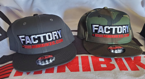 Factory Minis New Era Snapback Hat - The Best Minimoto, Pitbike, Minibike Source - Factory Minibikes