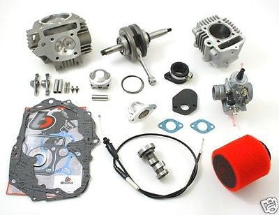 HONDA 80-81 CT70 108CC RACE HEAD BIG BORE STROKER CRANK CARB KIT TBW9095 52MM - Factory Minibikes