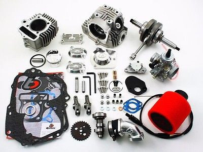 Honda 69-79 CT70 Big Bore Kit - 108cc Roller Rocker Race Head VM26 Carb TBW9119 - The Best Minimoto, Pitbike, Minibike Source - Factory Minibikes