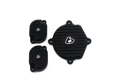 TB Parts Black Billet Head Cover Set - Zongchen Heads - ZS155 YX160 - TBW1141 - The Best Minimoto, Pitbike, Minibike Source - Factory Minibikes