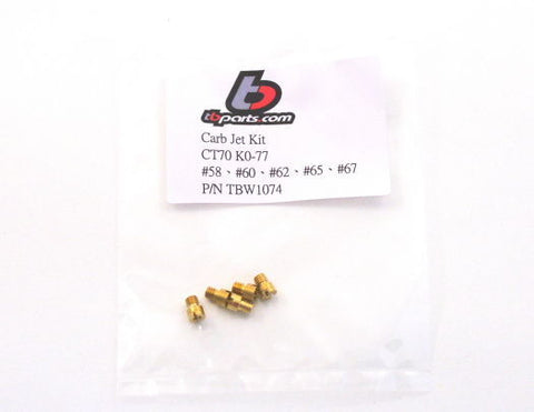 K0-77 Main Jet Kit - Honda CT70 - TBW1074 - The Best Minimoto, Pitbike, Minibike Source - Factory Minibikes