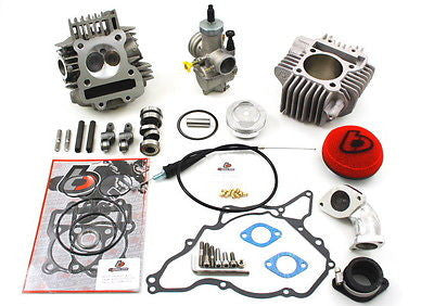 178cc Big Bore V2 Race Head Kit & TB 28mm Carb Kit - 02-09 KLX DRZ 110 - The Best Minimoto, Pitbike, Minibike Source - Factory Minibikes
