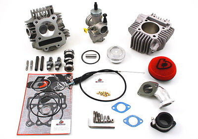 170/177/184cc TB V2 Big Valve Head, Carb, & Bore Kit for YX/GPX/Zongchen TBW9040 - The Best Minimoto, Pitbike, Minibike Source - Factory Minibikes