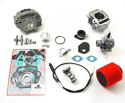 114cc Race Head, Mikuni VM26 Carb, and Cam Kit - 86-107cc Imports - TBW9096 - The Best Minimoto, Pitbike, Minibike Source - Factory Minibikes