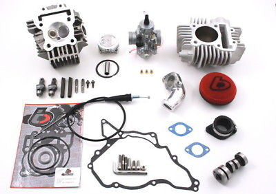 NEW High Compression 143cc V2 Race Head & VM26mm Bore Kit - KLX110 - The Best Minimoto, Pitbike, Minibike Source - Factory Minibikes