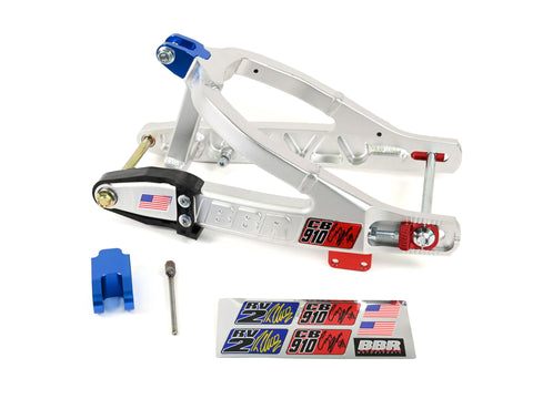 "NEW!!! BBR +1.75"" Stock Comp Signature Series Extended Swingarm - KLX110 & 110L - Factory Minibikes"