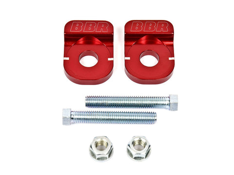 BBR Axle Adjuster Block Set - The Best Minimoto, Pitbike, Minibike Source - Factory Minibikes