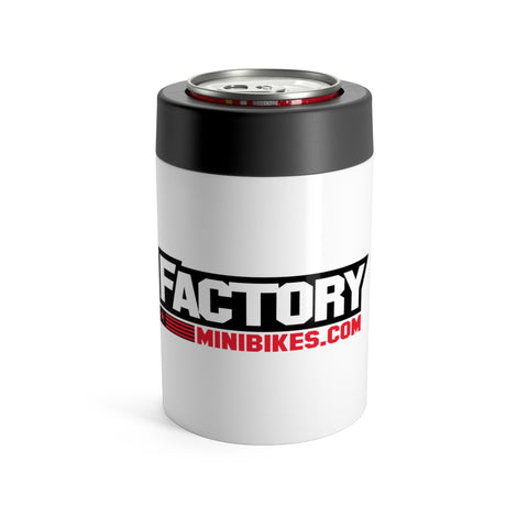 Factory Minis Beer Can Cooler - White - The Best Minimoto, Pitbike, Minibike Source - Factory Minibikes