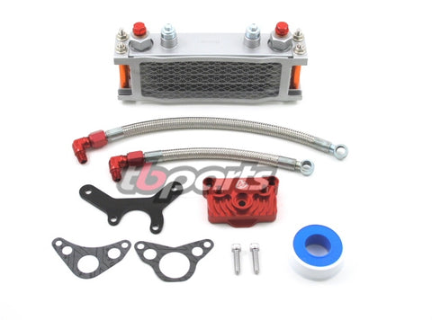 CRF50 Oil Cooler Kit - TB Parts - TBW1370 - The Best Minimoto, Pitbike, Minibike Source - Factory Minibikes