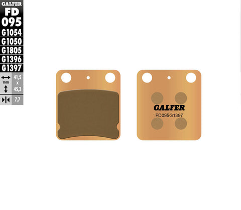 KX65 Rear Brake Pads - HH Sintered - Galfer - The Best Minimoto, Pitbike, Minibike Source - Factory Minibikes
