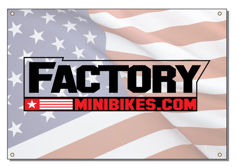 Factory Banner - USA - The Best Minimoto, Pitbike, Minibike Source - Factory Minibikes