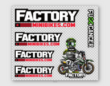 Factory Minibikes / FCancer Sticker Sheet - Factory Minibikes