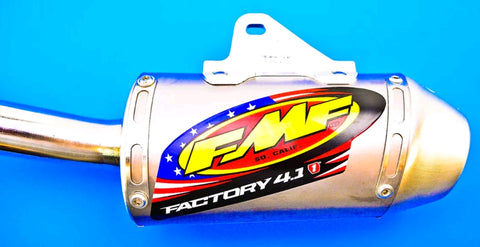 DISCONTINUED FMF MINI FACTORY-4.1 SYSTEM WITH STAINLESS END CAP KLX110 - Factory Minibikes