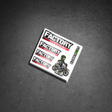 Factory Minibikes / FCancer Sticker Sheet - The Best Minimoto, Pitbike, Minibike Source - Factory Minibikes