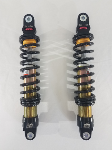 DNM 330mm Rear Shock Set - Black - CT70 / Z50 / Monkey125 - The Best Minimoto, Pitbike, Minibike Source - Factory Minibikes