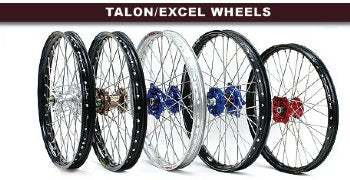 Talon/Excel KX65 Wheelset - Black/Black/SS - The Best Minimoto, Pitbike, Minibike Source - Factory Minibikes