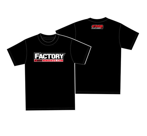 New FMB/Factory Minis OG Black Tee - Adult - The Best Minimoto, Pitbike, Minibike Source - Factory Minibikes