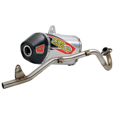 Pro Circuit T-6 Exhaust System - Carbon End Cap - 2019-Current CRF110F - Factory Minibikes
