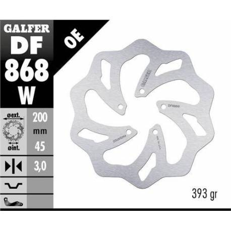 Galfer Front Solid Mount Wave Rotor - 5 Bolt Marzocchi Hub - DF868W - 200mm - The Best Minimoto, Pitbike, Minibike Source - Factory Minibikes