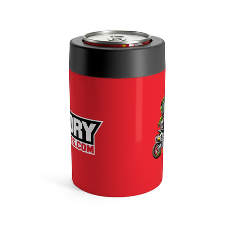 Factory Minis Beer Can Cooler - Red - The Best Minimoto, Pitbike, Minibike Source - Factory Minibikes