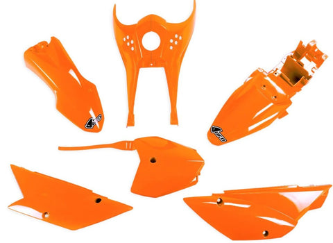 Complete Flo Orange Plastic Kit - UFO - 2010+ KLX110 & KLX110L - The Best Minimoto, Pitbike, Minibike Source - Factory Minibikes